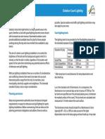 Lighting Information Sheet