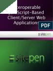 Interoperable JavaScript-Based Client/Server Web Applications