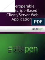 Interoperable JavaScript-Based Client/Server Web Applications