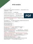 artist research template
