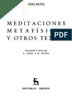 Descartes, René - Meditaciones metafísicas y otros textos. Ed Gredos.pdf