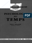 Psychologie Du Temps - Paul Fraisse