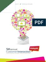 5th Annual Customer Interaction Conference , Malaysia - Frost & Sullivan