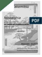 Takemitsu - Nostalghia