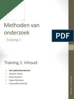Methoden Van Onderzoek_training 1 1314