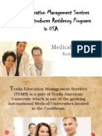 Texila Education Management Services (TEMS) introduces Residency Programs in USA