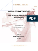 Manual de Mantenimiento Canal Aguas Lluvias