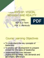 LVMR Course Presentation_IIMB