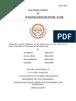 Design & Estimation of Intze Tanks-Major Project Report
