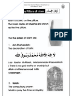 Grade 1 Islamic Studies - Worksheet 3.2 - The Five Pillars of Islam