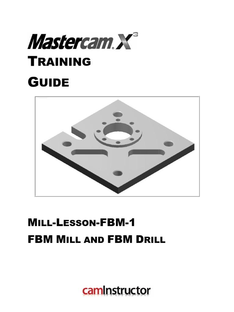 mill lesson fbm 1 machine tool machining rh scribd com