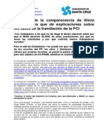 Guigou pide la comparecencia de Alicia Álvarez para que de explicaciones sobre los fallos en la tramitación de la PCI