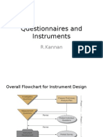 Questionnaires and Instruments