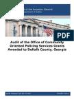 Audit of COPS Grants in DeKalb County