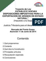 Presentación Impuesto Soja BFG 2014-10