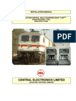 Installation manual for Single section digital axle counterDacf710p(CEL Make)