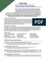 VP Business Development Strategic Marketing in Boston MA Resume Evilee Ebb