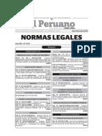 20141014-Normas Legales Del Dia Martes 14 de Octubre Del 2014