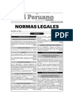 20141014-Normas Legales Del Dia Domingo 12 de Octubre Del 2014