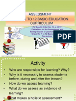 Assessment for the TOT Grade 3
