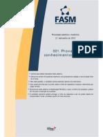 Caderno de Provas e Gabarito - Medicina - Conhecimentos Gerais