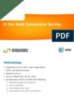 """It Can Wait"" Compulsion Survey Key Findings"