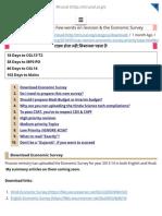 CSAT Revision for Remaining 45 Days & Economic Survey