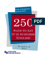 250 ways to say it