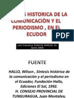 His. Periodismo. Ecuador