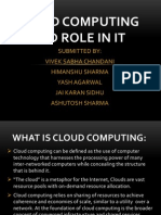 Cloud Computing and It's Role In IT