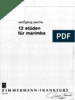 12 Etüden Für Marimba