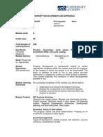 Property Development and Appraisal
