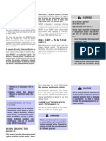 Infiniti i30 Owners Manual 2000