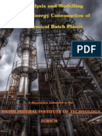Analysis and Modelling of the Energy Consumption of Chemical Batch Plants