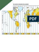 Mapa de Husos Horarios Del Mundo