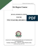 MBA Autonomous Rules and Regulation 2013-14