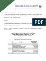 Informes Contables Sobre Ejecuci__n Del Presupuesto(2014)