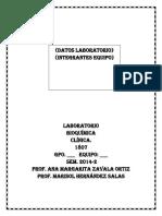 Bitacora Alumnos Laboratorio Bioquimica Clinica 2014-2 Gpos 1 y 5. (1)