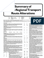 Summary of London Transport Route Alterations 1986