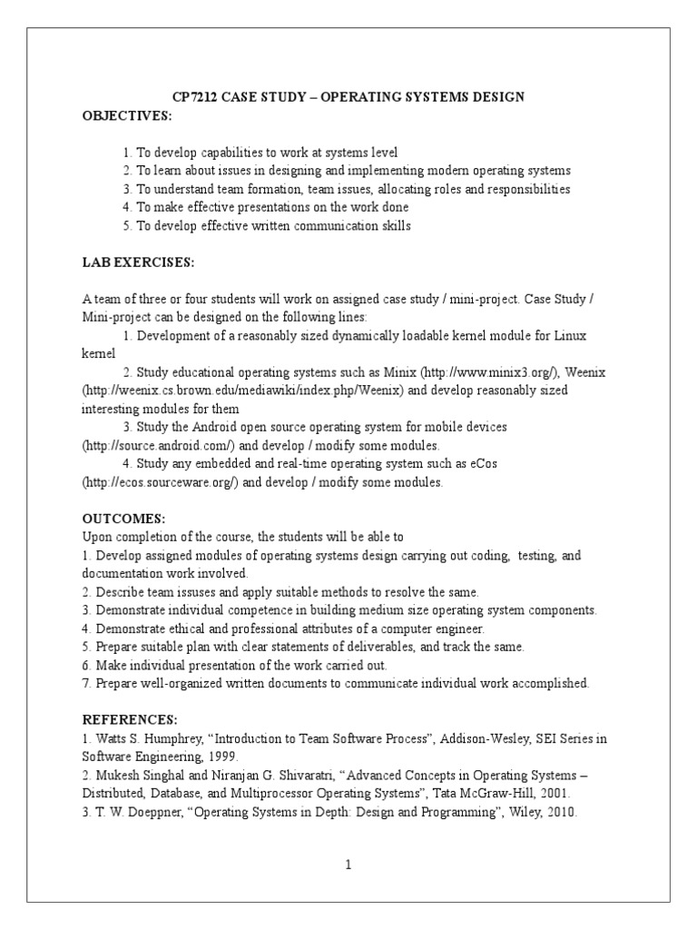Completed Manual OS Case Study | Library (Computing) | Scheduling