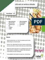Receta 1.2.2013. Wok de Pollo y Verduras