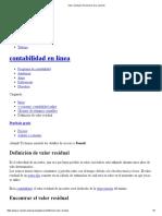 Valor Residual _ Diccionario de E-conomic