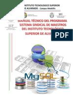 Manual Tecnico de BD de Maestors Del ITSAV
