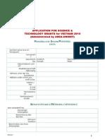 4. Application Form - Techno Grant Vietnam - Asea-uninet