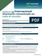 Cartilla Informativa Roaming Internacional de Movistar