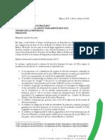 Carta al senador Jorge Luis Preciado