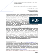 Apontamentos Acerca Da Politica Agrícola Brasileira
