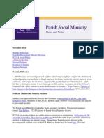November 2014 Catholic Charities USA Parish Social Ministry Newsletter