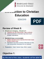 educ310- intro to christian education 9