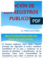 8. Función de Los Registros Publicos